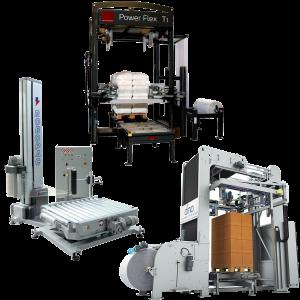 Sträckfilm och huvsträcksmaskiner för pallemballering av alla material