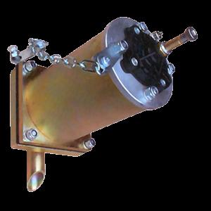 Luftaknon PG skjuter en luftkniv längs väggen i silo eller behållare